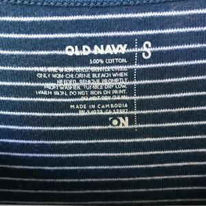 Old Navy Tops - Blue and White Striped T-shirt